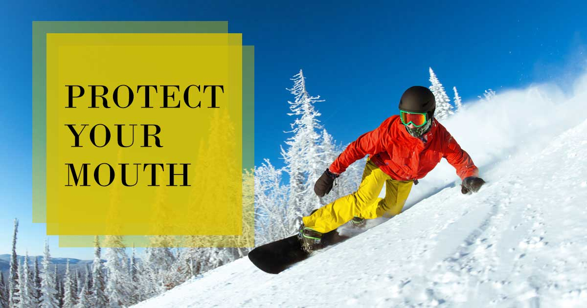 protect your teeth snowboarder